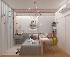👩🏽💻MADE IN ARCHITECTARIA. Boaaaa Tardeeee with youthful room in rose tones! Because Variety is growing, but the essence remains: … Toys, … - Best Pin Girl Bedroom Designs, Room Ideas Bedroom, Small Room Bedroom, Home Bedroom, Bedroom Decor, Kids Bedroom, Home Room Design, Awesome Bedrooms, Dream Rooms