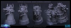 ArtStation - Heroes Of The Storm - Towers Of Doom - Heavy Towers And Fortress, David Harrington