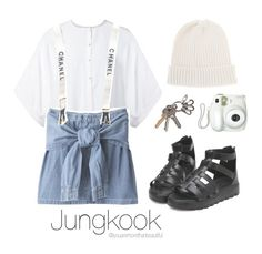 """""""BTS Inspired [White]"""" by youaremorethanbeautiful ❤ liked on Polyvore featuring Givenchy, Chanel and Branca"""