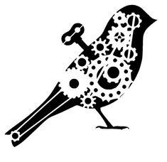 8.3/11.7 steampunk cogs bird stencil 2. A4