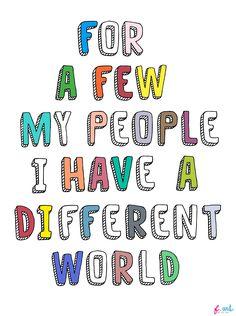*MY WORLD