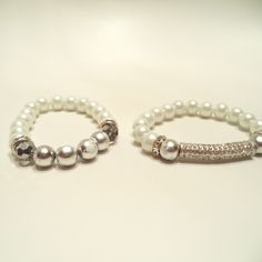 Silver Crystal Rhinestones Bar Bracelet Set from LaTor-Gray Designz for $10.00