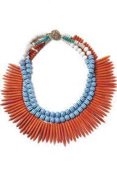 Bright statement: Noble House Designs Havana necklace, $150