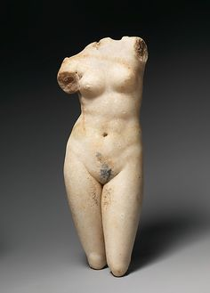Marble statuette of Aphrodite Anadyomene (rising) Period:     Early Imperial…