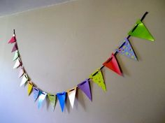 Things to make and do - Make Paper Bunting - with all of the variety of scrapbook papers out there, you could make these for every occasion.