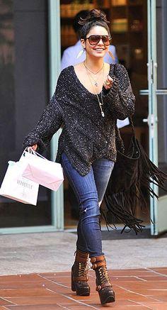 Vanessa Hudgens street style.