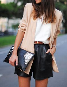 nude color blazer or jacket must be in your wardrobe^^