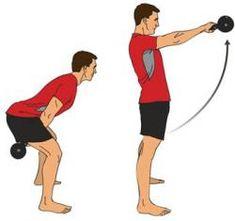 #Crossfit proper Kettle Bell swings.