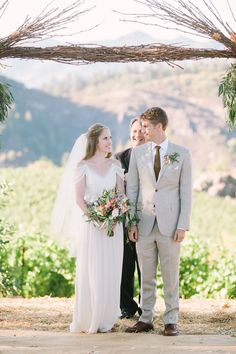 A California Winery Wedding with a Mountaintop Ceremony - http://www.stylemepretty.com/2016/03/04/california-winery-wedding-with-a-mountaintop-ceremony/