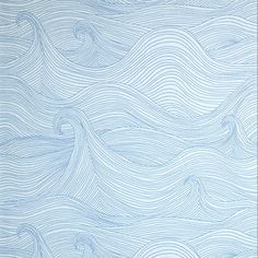 Blue Pattern Wallpaper $95.00	 These abstract waves are great for a teen boy who loves to surf. It looks good without screaming beach theme.   Minimun six rolls per order. — Andrika King Product Specifications: Sold By:walnut wallpaper