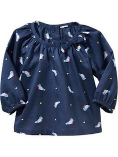 Bird-Pattern Top (0-3 m), $10.00 -- ENDING SOON