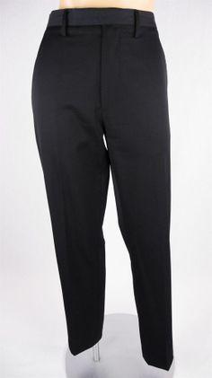 HELMUT LANG Pants Sz M Black Dress Wool Twill