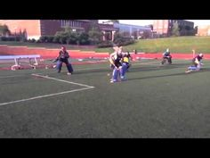 Field hockey goalie diving drill More
