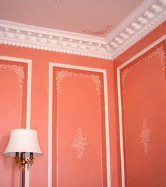 Ideas para decorar las paredes: Utilizar molduras de imitación a escayola. | Mil Ideas de Decoración