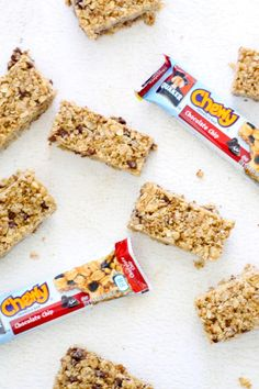 Homemade chewy granola bars your family will love just as much as the store-bought version. Chewy, chocolatey, good-for-you granola bars, made at home in minutes!
