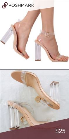 release date 1f139 5b1ab Cape Robbin transparent heels Clear plastic heels, never been worn! Very  comfortable materials with