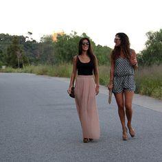 ¿Qué look os gusta mas? ¿Maxi falda y top o mono corto con aminal print? http://15colgadasdeunapercha.com/2013/06/17/noche-de-san-juan/