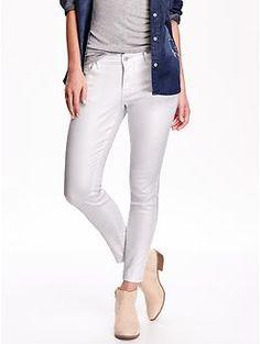 Women's The Rockstar Mid-Rise Metallic Skinny Jeans | Old Navy