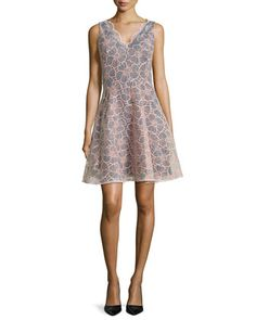 Vanessa Sleeveless Floral Embroidered Dress   by ERIN erin fetherston at Neiman Marcus.