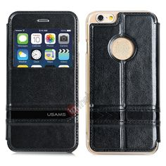USAMS Merry Series Flip Leather Stand Case for iPhone 6 4.7 Inch - Black US$15.69