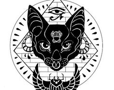 bastet tattoo - Google Search                                                                                                                                                      Mais