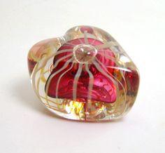 Karg Hand Blown Glass Red Heart Paperweight