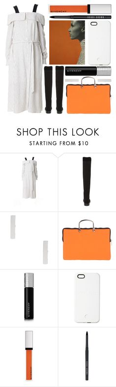 """""""clean lines"""" by foundlostme ❤ liked on Polyvore featuring TIBI, Stuart Weitzman, Leghilà, Givenchy, SnapLight, Bobbi Brown Cosmetics, minimalistic and pinstripes"""
