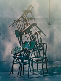 stacked chairs by House of Bliss