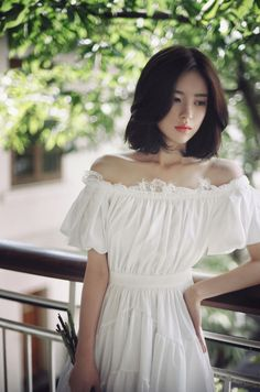 milkcocoa off the shoulder white lace bohemian cotton dress