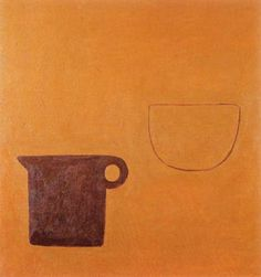 William Scott, Poem for a Jug, No. 14, 1979–80, Oil on canvas, 51 × 51 cm / 20 × 20 in, Whereabouts unknown