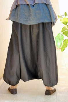 Plus size Harem Pants like Skirt Designer Pants Boho di lunalin