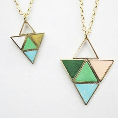 Loving this triangle necklace. Super cute and modern! @CLOUDSANDLADDERS