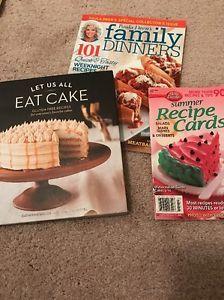 Cookbook Lot: Let Us Eat Cake, Paula Deen's Family Dinners, Betty Crocker Re....    eBay