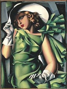 Young Woman in Green (Jeune fille en vert), Tamara de Lempicka, about 1927, oil on panel