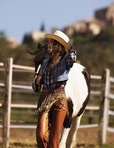Daria Pilnitskaya by Zoltan Tombor for Grazia   . . . knew she wasn't a real cowgirl.   But ask me if I care. . . .