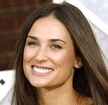Demi Moore...She grew up in a trailor park and had an abusive father, who spent his life drinking instead of working.  At 16 Demi dropped out of school and moved to Hollywood.