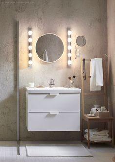 Topla bela boja LEDSJÖ LED zidne lampe sjajno je rešenje za ogledala u kupatilu ili stolu za šminkanje.