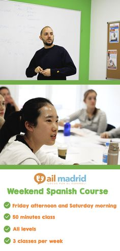 #AIL Madrid's #Weekend Spanish Course at a glance! // ¡El curso de español de fin de semana de AIL #Madrid de un vistazo!