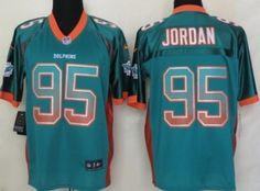 Nike Miami Dolphins #95 Dion Jordan 2013 Drift Fashion Green Elite Jersey