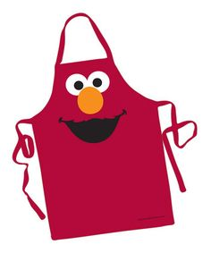 Take a look at this Red Elmo Big Face Apron by Sesame Street, idea for children Dress Up Aprons, Cute Aprons, Sewing Hacks, Sewing Crafts, Sewing Projects, Childrens Aprons, Apron Designs, Big Face, Clothes