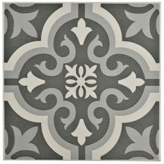 "Found it at AllModern - Lima 7.75"" x 7.75"" Ceramic Field Tile in Black"