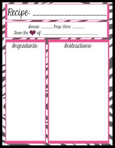 Free Recipe Card Templates For Word Delectable Free Recipe Card Printables  Scrapbooking  Cookbookfood .