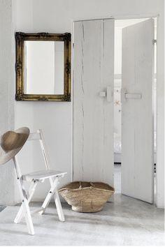 Entrée blanche - esprit campagne chic. #white #entrance