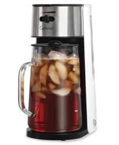 Perfect to a tea. With a removable filter & a 80-oz. glass pitcher, this brewer makes a big batch of your favorite iced tea. Use the flavor enhancer setting to adjust the brew strength from mild to st