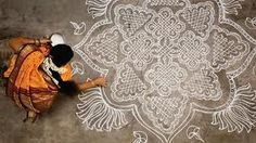 Kolams in the month of Margazhi