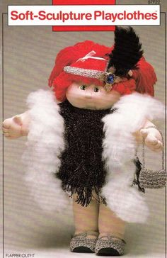 Soft Sculpture Playclothes Crochet Patterns for Cabbage Patch Kids Dolls
