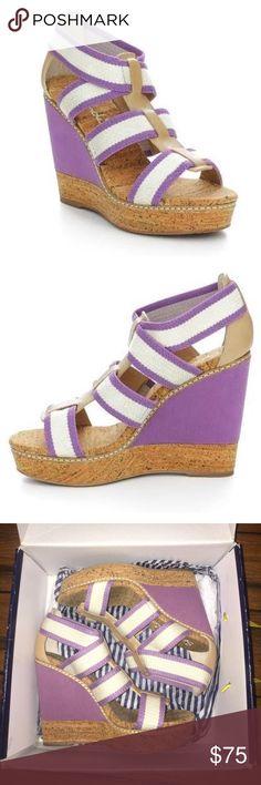 🎉1 hour sale🎉Splendid Klever wedges Purple Fig Splendid Klever wedges in excellent, like new condition. Splendid Shoes Wedges