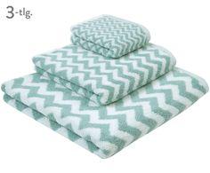 Entdecken Sie Handtuch-Set Liv, 3-tlg. in Mint, Weiß jetzt bei >> WestwingNow. Lassen Sie sich von mjukis. inspirieren