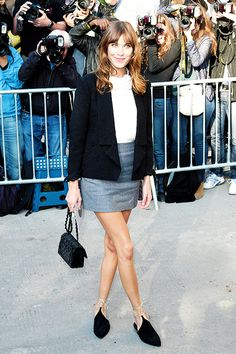 """ Alexa Chung arrives at the Chanel show as part of the Paris Fashion Week Womenswear Spring/Summer 2015 on September 30, 2014 in Paris, France. """