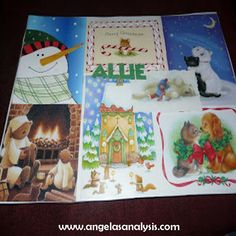 I love to find crafts you can make that you can actually use!  I made these Christmas Card Placemats a few years back and they are still holding up well!!  I love the beauty of Christmas cards and hate throwing them away once Christmas is over!  This is a wonderful way to use the covers …